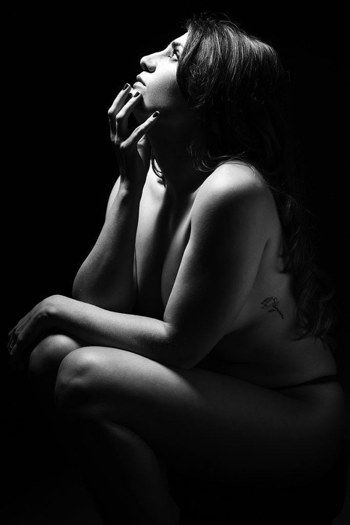 fotografía chica blanco y negro Barcelona
