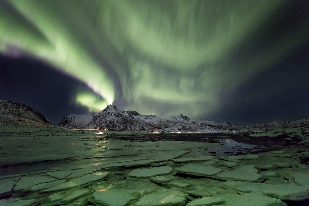fotografía paisaje nocturno Noruega